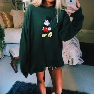 vtg forest mickey mouse crewneck